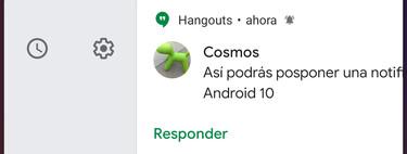 Cómo posponer notificaciones en Android 10