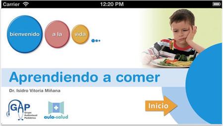Una nueva aplicación que nos puede resolver dudas sobre alimentación infantil: 'Aprendiendo a comer'