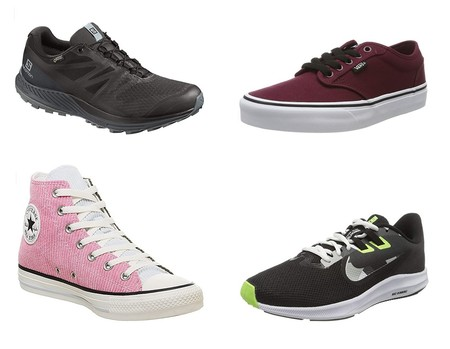 Chollos en tallas sueltas de zapatillas Salomon, Nike, Vans o Converse por menos de 40 euros en Amazon