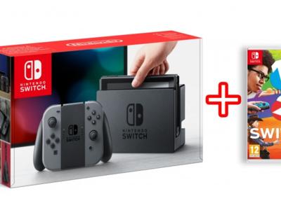 Nintendo Switch, con 2 mandos Joy-Con y el juego 1-2 Switch, por 349,90 euros