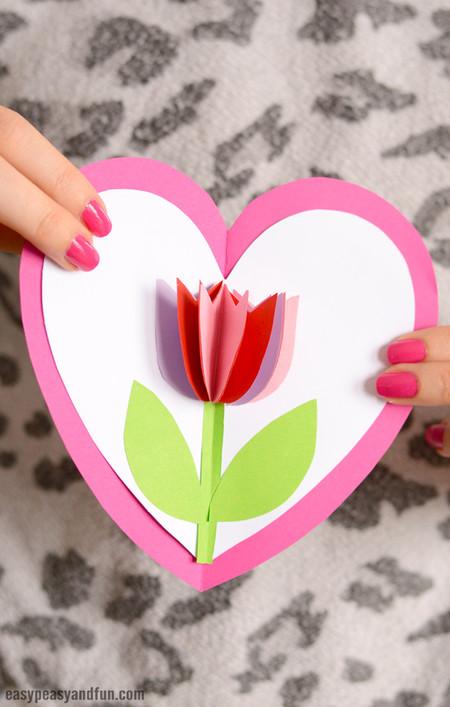 Manualidades Dia Madre Tarjeta Tulipan