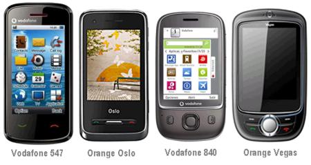 Nuevos móviles táctiles de marca blanca con Vodafone y Orange