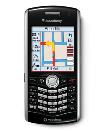 BlackBerry Pearl 8110 con GPS ya con Vodafone