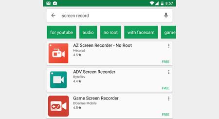 Google Play está probando nuevas sugerencias de búsqueda mediante botones
