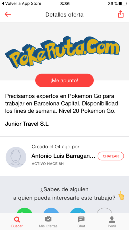 Oferta trabajo Pokémon GO
