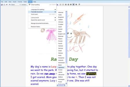 Google Docs permite realizar traducciones de documentos