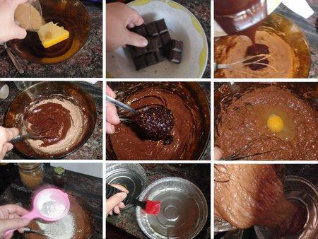 Bizcocho de chocolate y mermelada de moras. Receta