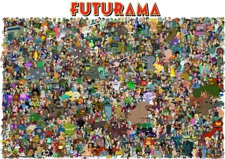 Todos los personajes de 'Futurama' reunidos, la imagen de la semana