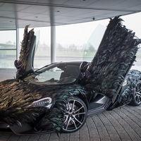 El McLaren más aerodinámico está recubierto de plumas de fibra de carbono... pero es una broma