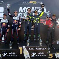 """Valentino Rossi tras ganar el Monza Rally Show: """"Disputar un rally real sería difícil para mí"""""""