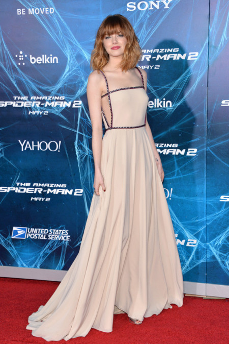 Emma Stone Prada look Spiderman