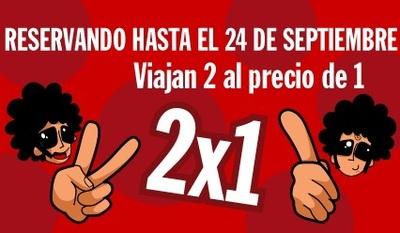 2x1 al reservar con Pepetravel antes del día 24 de septiembre