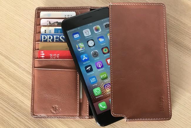 más funda cuero iPhone