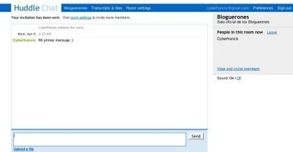 Huddle Chat, servicio de salas de chat creado bajo Google App Engine