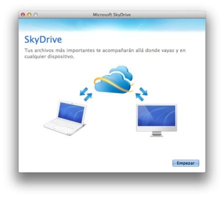 Disponible la aplicación de Skydrive para OS X