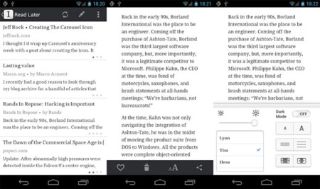 Instapaper llega definitivamente a Android