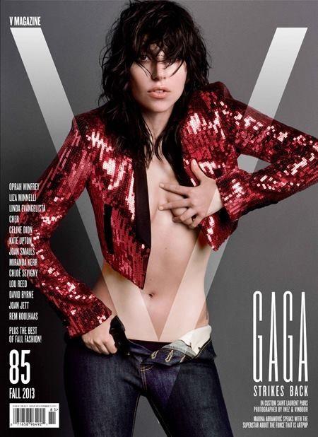 Qué le gusta un buen brilli-brilli a Lady Gaga y más si es en la portada de V Magazine