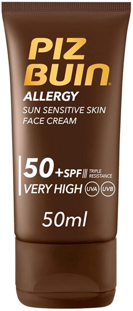 Piz Buin Allergy Protector Solar Facial Spf 50 Proteccion Muy Alta Para Pieles Sensibles Al Sol 50 Ml