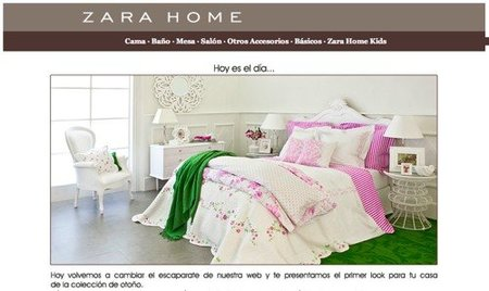 Zara Home escaparate on line