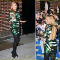 Kate Hudson en el show de David Letterman