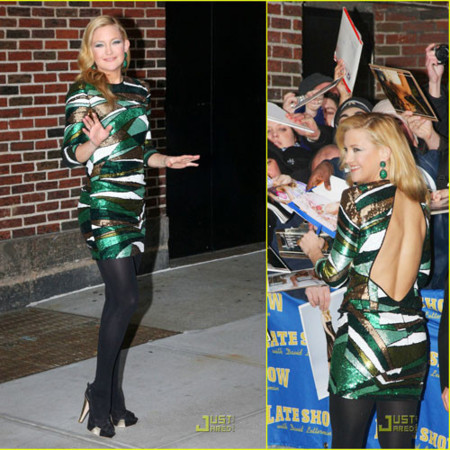 Kate Hudson en el show de David Letterman