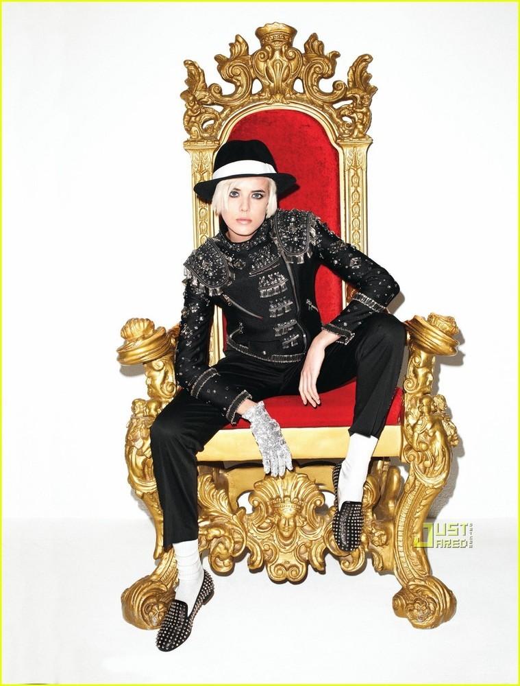 Foto de Agyness Deyn es Michael Jackson en Harpers Bazaar (1/3)