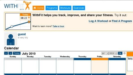 WhitFit te guía, te aconseja y te ayuda a monitorizar el entrenamiento