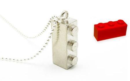 Colgante Lego de plata