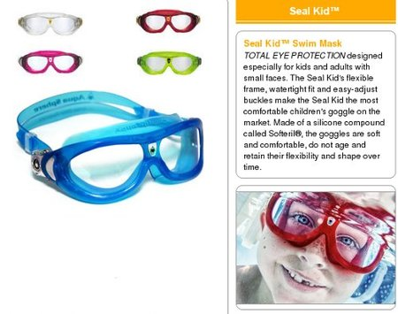 Seal Kid, gafas acuáticas  de visión panorámica