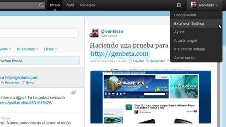 Previsualiza URLs dentro de Twitter en Chrome