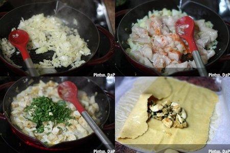Flauta de pollo con guacamole. Pasos