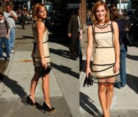 El look de Emma Watson en el show de David Letterman