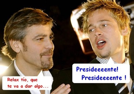 Brad Pitt ve a George Clooney como presidente de EEUU