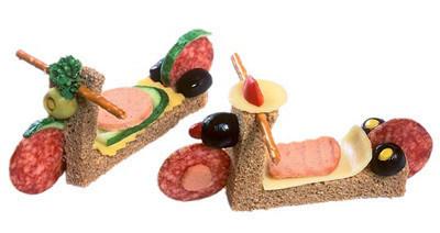Sandwichs con arte: Meriendas divertidas