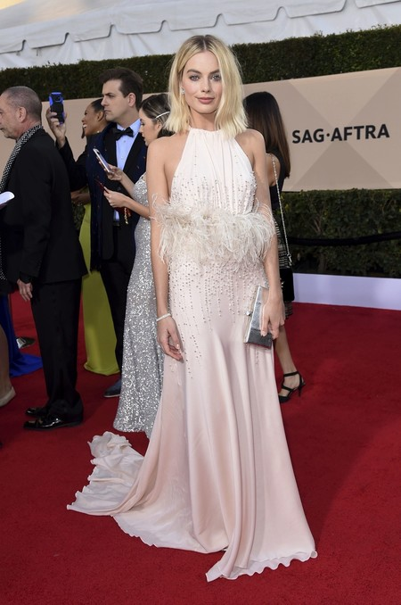 Alfombra Roja Sag Awards 2018 Margot Robbie Miu Miu