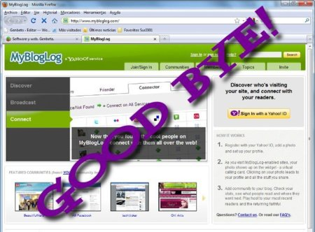Yahoo! cierra la red social MyBlogLog