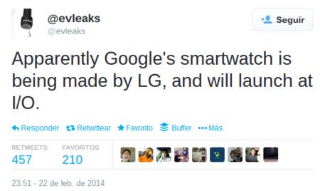 Se filtra información técnica del supuesto smartwatch de Google y LG