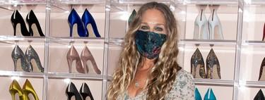 Katie Holmes y Sarah Jessica Parker protegen sus días con mascarillas florales: cinco modelos parecidos para marcar la diferencia