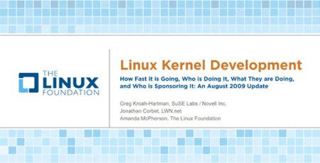 Informe de la Linux Fundation sobre el desarrollo del kernel