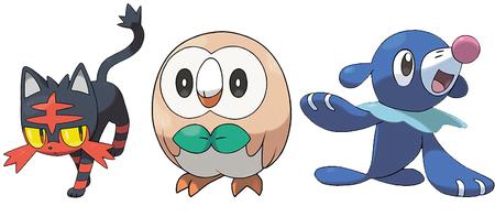 Pokemon Sol Luna Iniciales