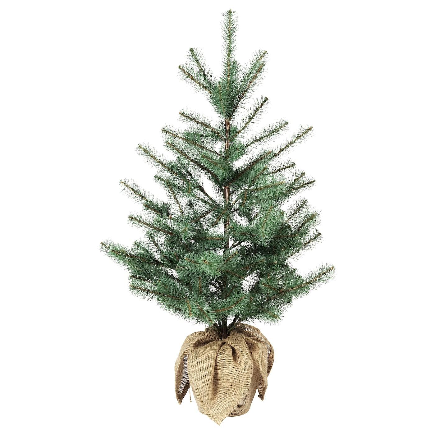 VINTER 2020 Planta artificial, int/ext yute/árbol de navidad azul verdoso19 cm