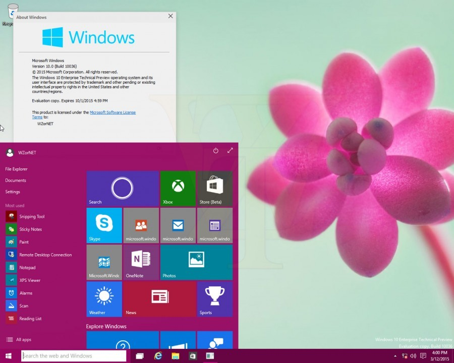 Foto de Windows 10 - build 10036 (1/13)