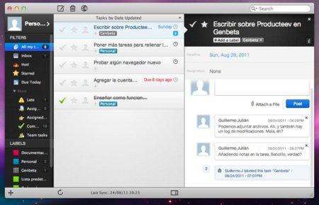 Aplicación de Producteev en Mac
