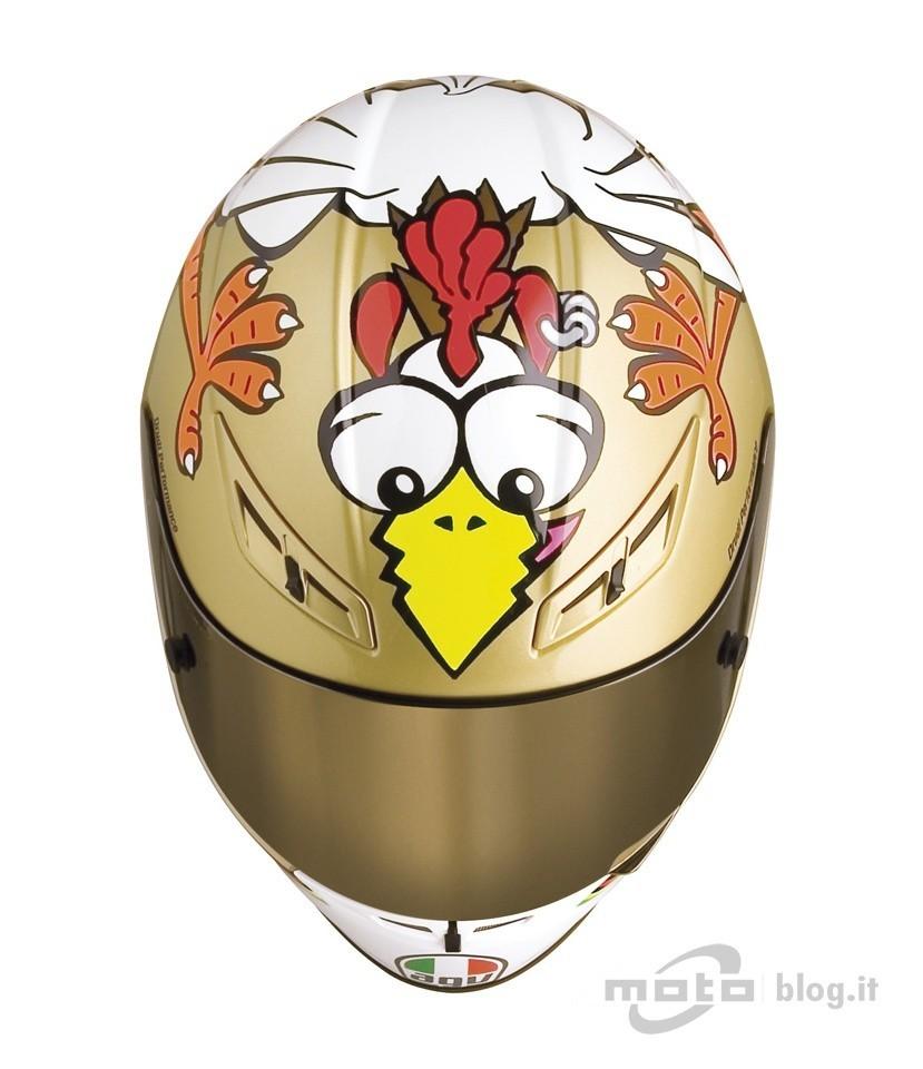 Edición limitada del casco AGV GP-Tech de la gallina y Valentino Rossi