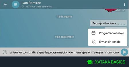 Cómo programar mensajes en Telegram para que se envíen a cierta hora por sí solos