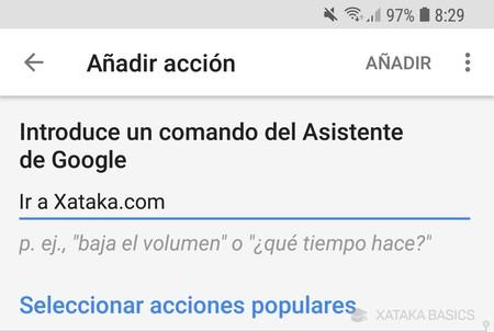 Anadir Accion