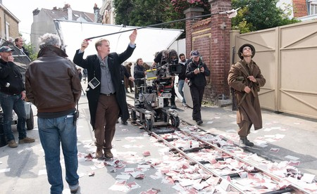 Nolan en el rodaje