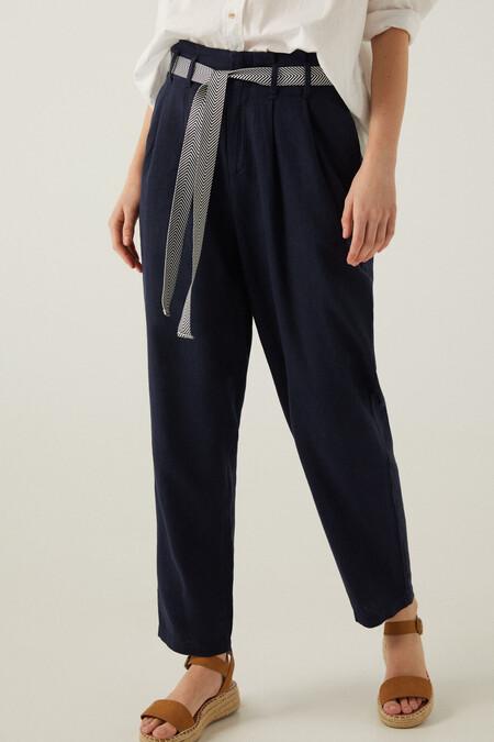 Pantalon Cinturon Lino