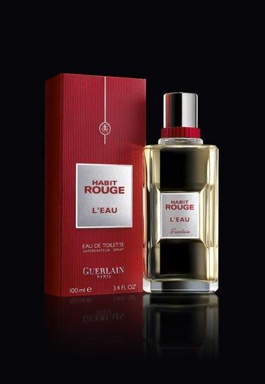 Habit Rouge L'Eau de Guerlain, nueva fragancia masculina oriental-fresco para febrero
