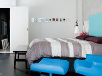 Un dormitorio moderno y chic